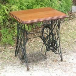 singer sewing machine treadle table steunk by sweetiesattic