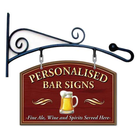 Home Bar Signs Pub Hanging Sign Hanging Home Bar Sign Outdoor