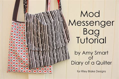 pattern making video tutorials easy mod messenger bag tutorial