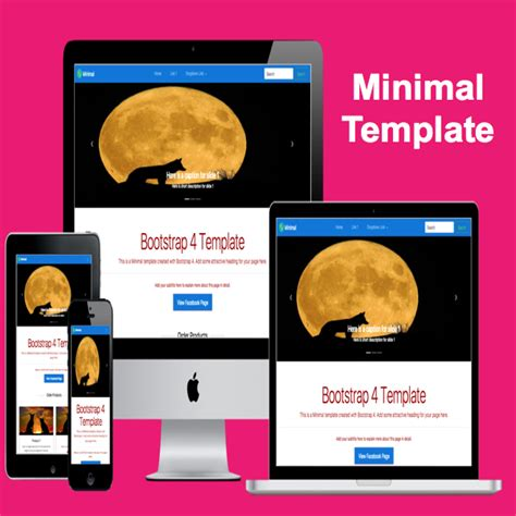 Minimal Bootstrap 4 Template 187 Webnots Bootstrap 4 Templates
