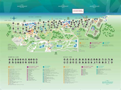 palace resort cancun map moon palace cancun map my