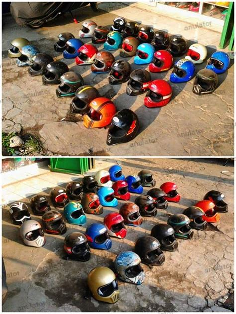 Helm Cakil Retro 90 Best Images About Custom Motor On Bandung