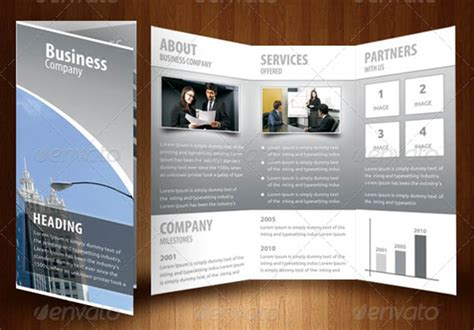 business tri fold brochure templates corporate identity manuals and guides template a4