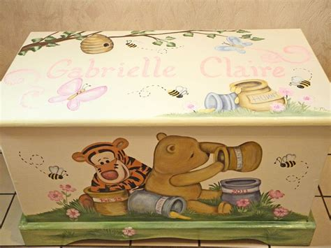 winnie the pooh toy box bench best 25 painted toy chest ideas on pinterest big toy box boys toy box and wood toy