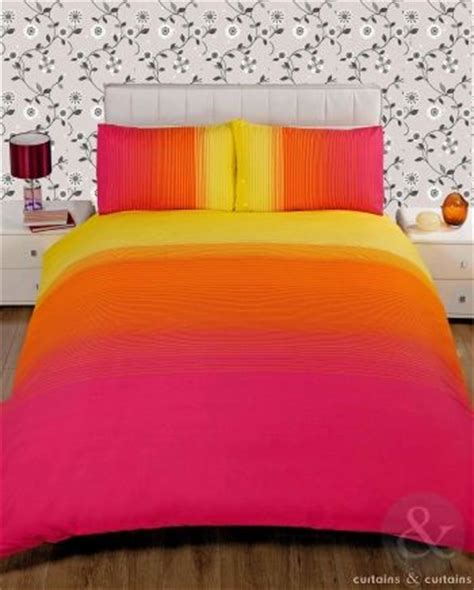pink and yellow bedding striped pink yellow printed duvet cover