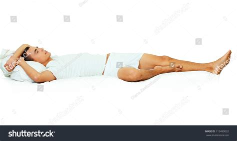 Holding Pillow While Sleeping by Photo Handsome Sleeping Holding Soft Stock Photo