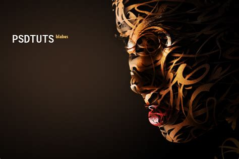 face typography tutorial photoshop cs3 creating a vector composite effect from a photo