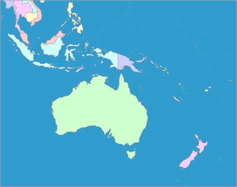 asia and australia map asia and australia map