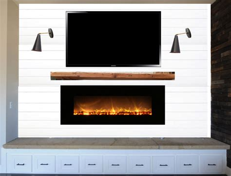 Shiplap Wall Fireplace Visualizing The Fireplace Makeover