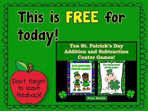 throwback thursday st s day 17 best images about st patricks day math on fact families addition and math