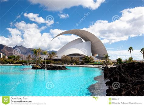 Architect Designs by Auditorio De Tenerife In Santa Cruz Tenerife Editorial