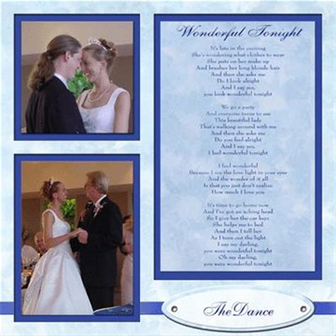 wedding dance layout scrapbook wedding layout the dance they see me