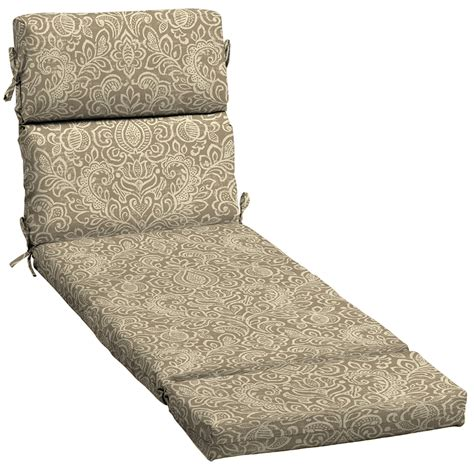 chaise lounge chair cushion shop garden treasures neutral stencil damask standard