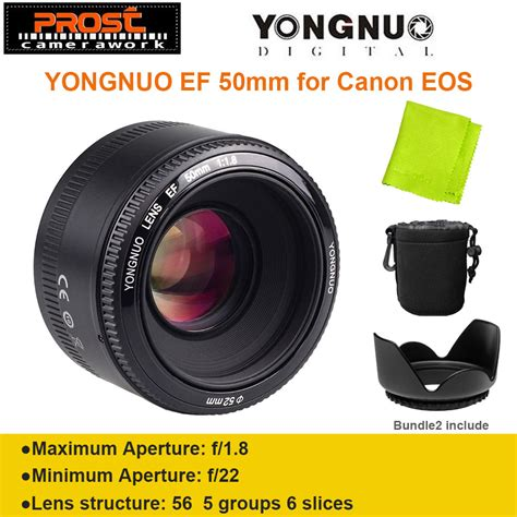 Dijamin Yongnuo Lensa Ef Yn 50 Mm F1 8 For Canon yongnuo yn50mm f1 8 yn ef 50mm f 1 8 af lens yn50 aperture auto focus for canon eos dslr cameras