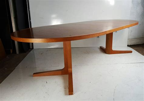 expandable dining room table plans danish modern expandable teak trestle table g plan denmark at 1stdibs