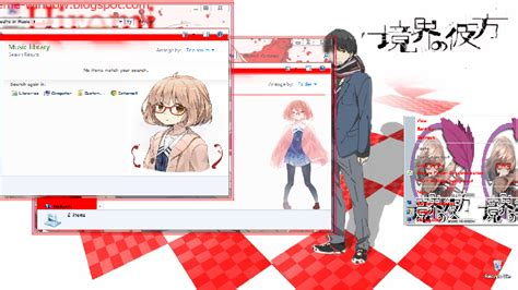 theme windows 7 kyoukai no kanata theme win 7 kyoukai no kanata theme window