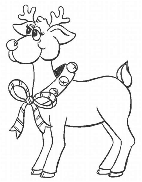 reindeer coloring pages santa reindeer coloring pages