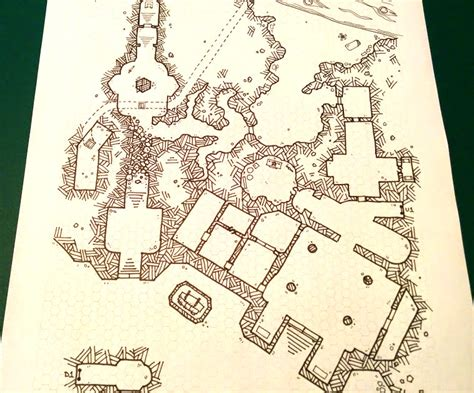 R Drawing Maps by My Attempt At A Quot Dyson Style Quot Dungeon Map