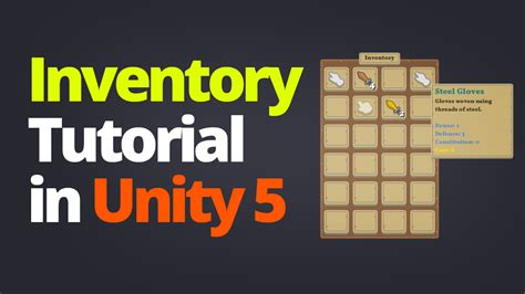 tutorial php unity inventory system tutorial in unity 5 by awfulmedia unity