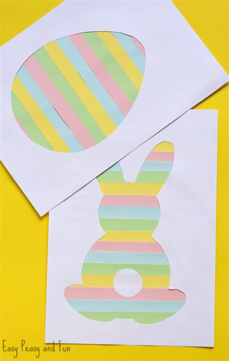 easter paper crafts free printable easter silhouette craft easy peasy and