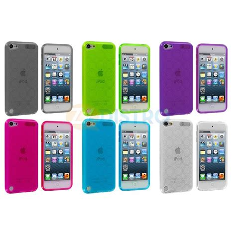 ipod touch 5th generation colors tpu circles color rubber skin cover for ipod touch