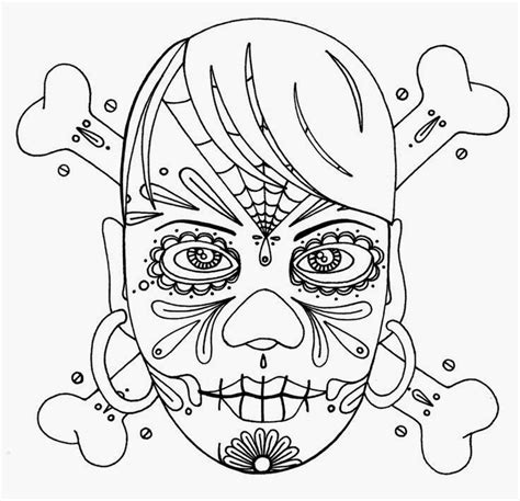 skull face coloring page tattoos book 2510 free printable tattoo stencils day of