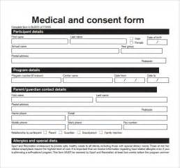 Standard Consent Form Template by Sle Consent Form Exle 8 Free