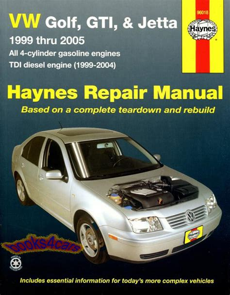 shop manual volkswagen service repair jetta golf gti haynes book guide 1999 2005 ebay