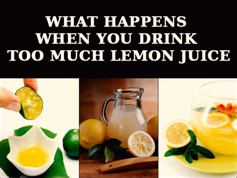 Can You Use Bottled Lemon Juice To Detox by What Happens When You Drink Much Lemon Juice Boldsky