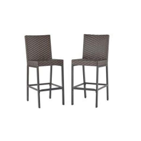 hton bay outdoor bar stools hton bay rehoboth dark brown wicker outdoor bar stool