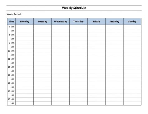 weekly calendar template with times oyle kalakaari co