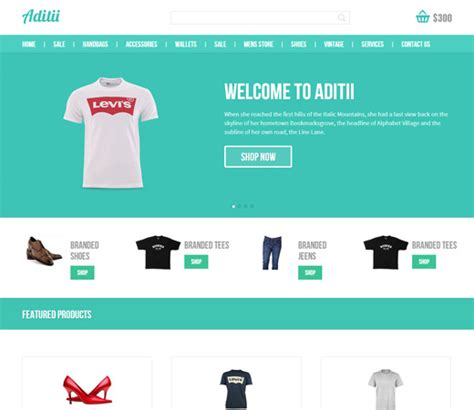 online shopping templates for asp net aditii a flat ecommerce responsive web template