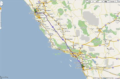 Pch San Francisco To San Diego - map of san francisco to san diego michigan map