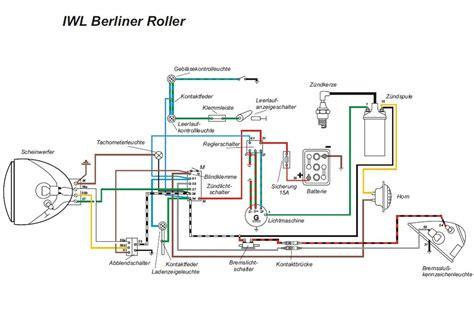Motorrad Batterie Schaltung by Kabelbaum F 252 R Iwl Berlin Roller Wiesel Mit Farbigen