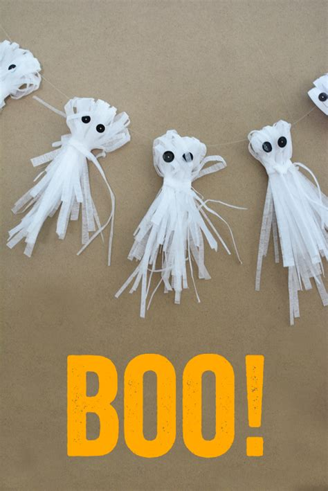 How To Make Paper Ghost For - shredded paper ghost garland meri cherry