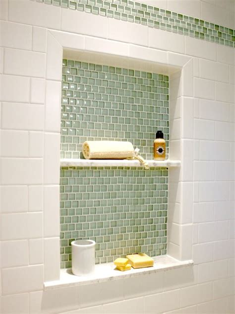 Tile Shower Shelf Ideas by 40 Green Bathroom Tile Ideas And Pictures