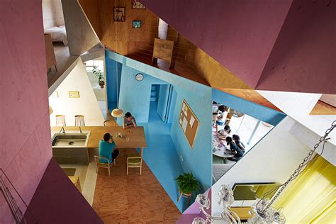 Interior Illusions Home by A Renovated Apartment Turned Into A Multicolored Cross