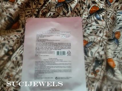 Harga Masker Wajah Tempel review etude i need you pomegranate mask sheet sucijewels