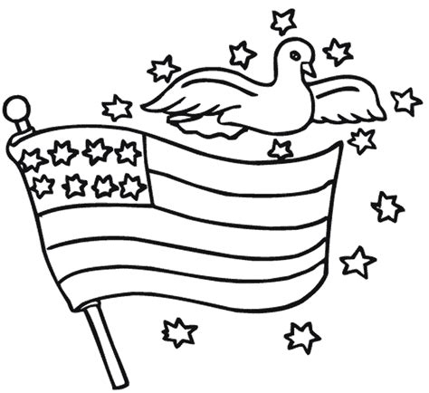 american flag clip art coloring page american flag outline clip art 26