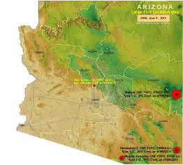 arizona wildfire map updated 6 10 11 arizona county map