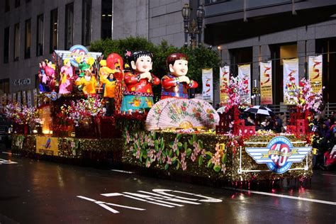 new year parade with frog