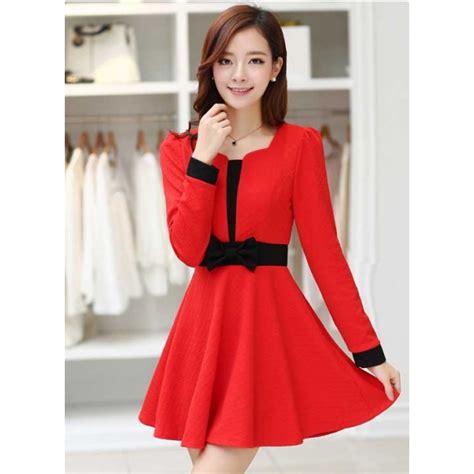 Dress Lengan Panjang dress wanita lengan panjang d1628 moro fashion