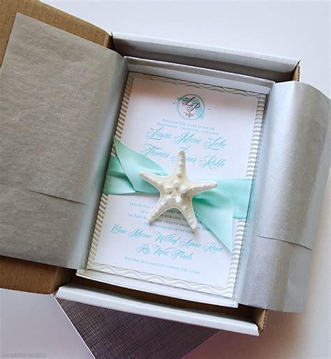 wedding invites in a box wedding invitations florida destination wedding