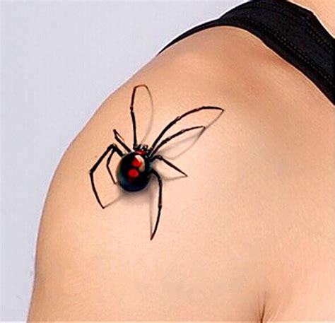 3d spider tattoo designs 2pcs 3d spider temporary by