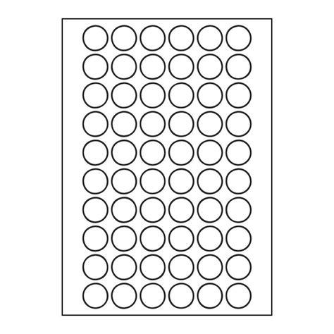 Aufkleber Rund 25mm by Etiketten 24mm Rund 6x10 Aufkleber Pro Blatt A4 Von Kores