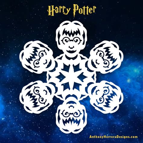 harry potter designs harry potter snowflakes anthony herrera designs