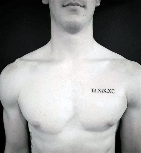 small tattoos on chest numerals chest for guys with small