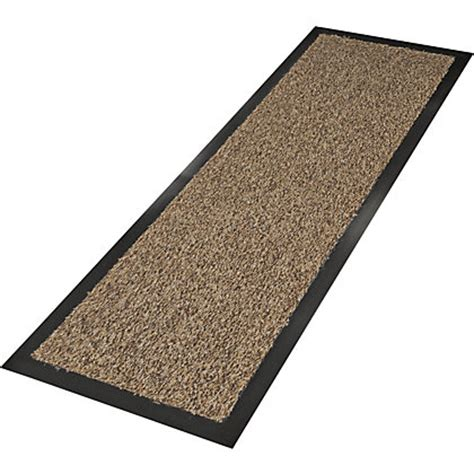 Floor Runner Rugs with Image For Washable Cotton Floor Runner Rug 180x60cm Brown From Storename