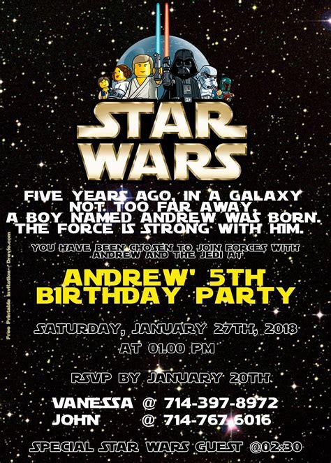 lego star wars birthday invitation psd