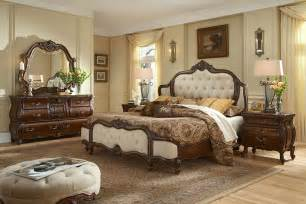 bedroom set with fabric inserts lavelle milange by aico aico bedroom furniture